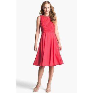 Isaac Mizrahi Soutache Rosette Fit & Flare Dress